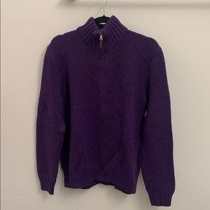 Polo Ralph Lauren Cotton Quarter Zip Sweater SizeL